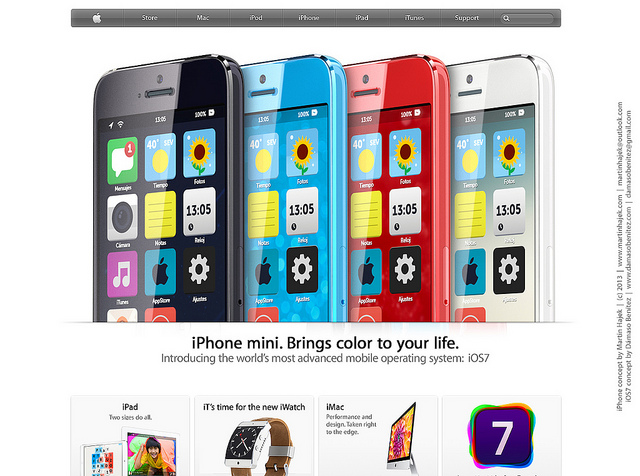 Un concept d'iPhone low-cost et d'iOS 7